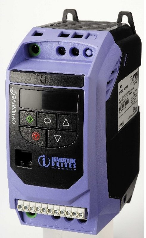 OPTIDRIVE E2 1 ph 230V, 0,75 kW, 7 A, IP20