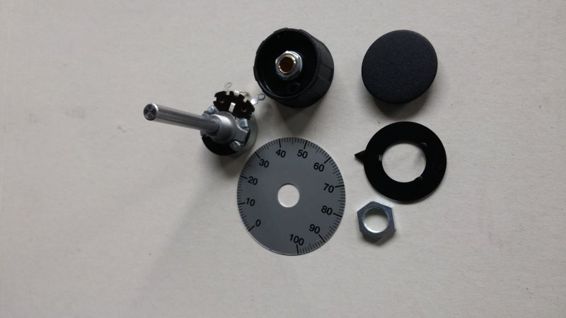 Potentiometer 10k 4W, mit Knopf und Skala